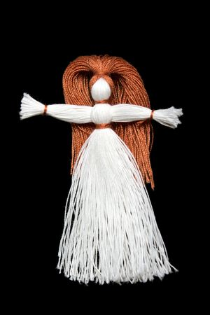 Sewing craft string fiber thread doll toy women Stock Photo - 6380810