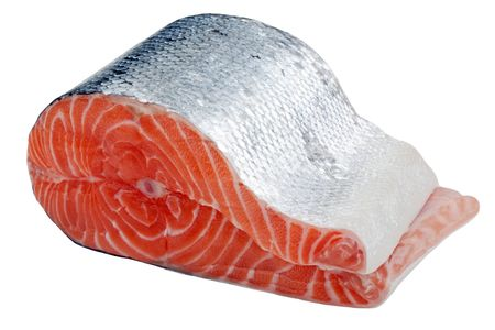 red salmon: Healthy eating seafood - red raw salmon fish food