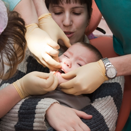 Dentist office child dental medicine hygiene exam photo