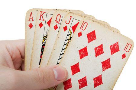Karten spielen Freizeit Poker Spiel Royal Flush Ass