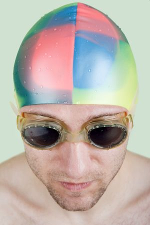 Water pool swimming pursuit sport athlete goggles photo