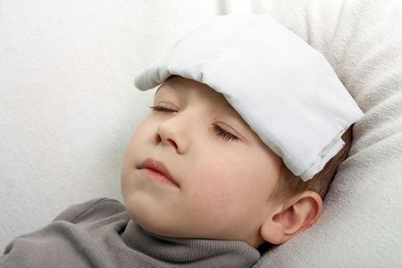 Little illness child medicine flu fever healthcare photo
