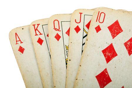 Cards gambling leisure poker game royal flush ace photo