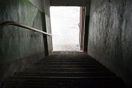 Doorway entrance corridor tunnel open light door photo