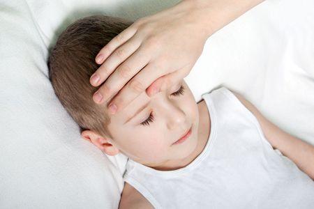 Little illness child medicine flu fever healthcare photo