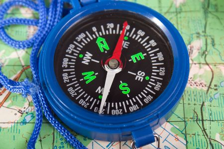 Travel north direction compass on cartography map Stock Photo - 6736453