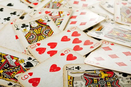 Cards gambling leisure poker game ace background Stock Photo - 6776971