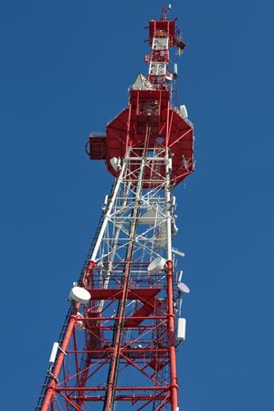 Television aerial communication antenna sky tower photo