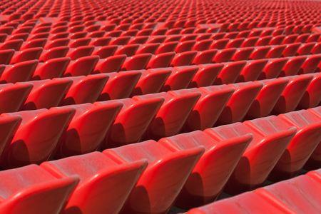 Empty soccer sport stadium bleacher seat chair row photo