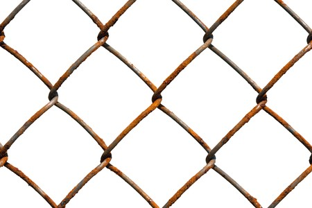 Metal wire fence protection chainlink background Stock Photo - 7028273