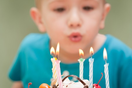 Birthday party celebration sweet cake food candle Stock Photo - 7127516
