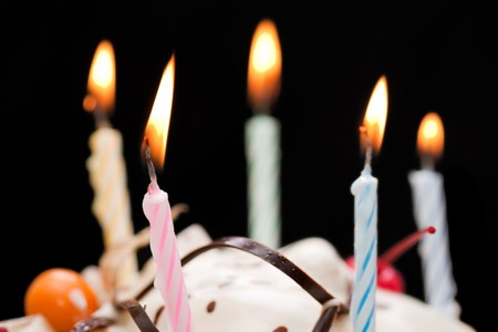 Birthday party celebration sweet cake food candle photo