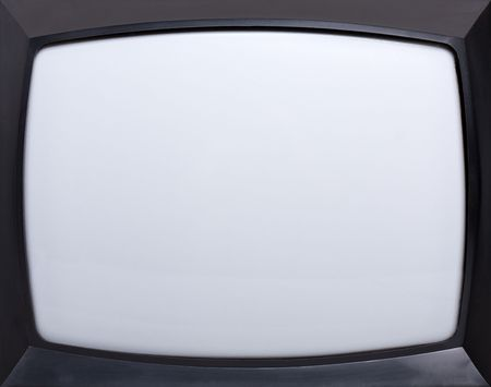 Retro television equipment blank display screen photo