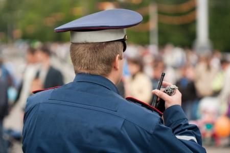 Crime law security service police officer cop men