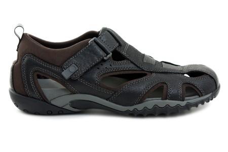 Summer fashion sandal sport shoe isolated on white photo