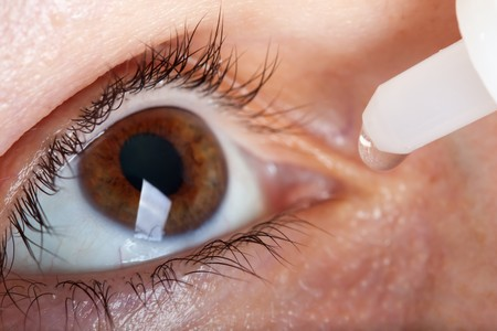 Medicine healthcare liquid eyedropper on human eye Stock Photo - 7462925