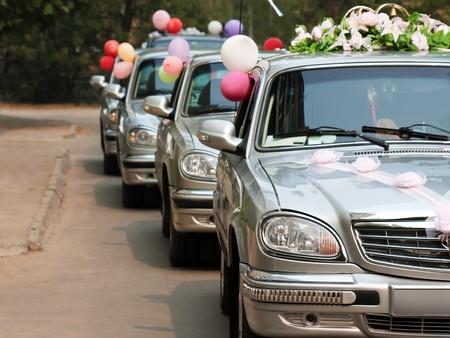 Married bride wedding flower bouquet limousine car
