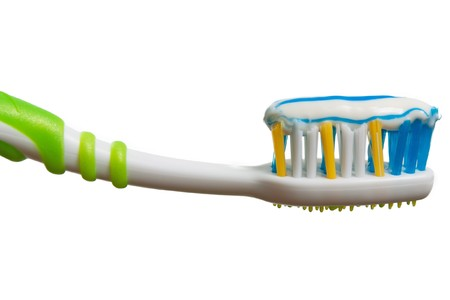 Toothbrush and toothpaste for dental teeth hygiene photo
