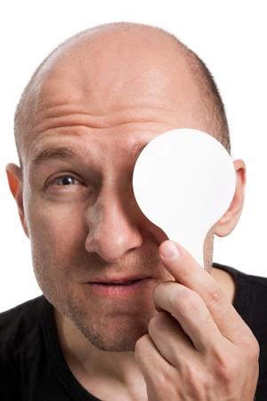 Human medicine healthcare men eye eyesight exam photo