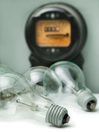 Lamp light glass bulb electricity meter equipment photo