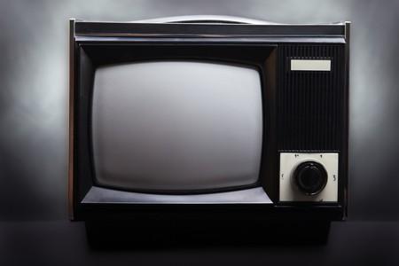 Retro television equipment blank display screen photo