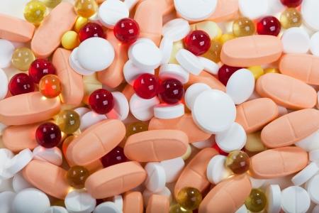 Healthcare medicine vitamin capsule pills isolated Stock Photo - 8267208