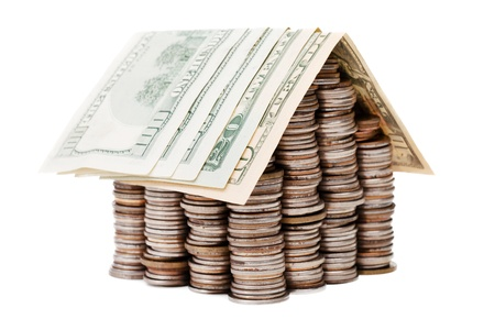 Real estate finance investment currency coin house