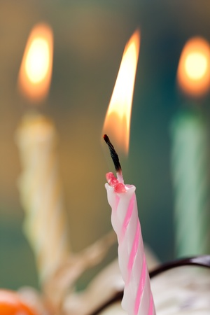 Birthday party celebration sweet cake food candle photo