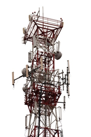 communication industry: Mobile phone communication repeater antenna tower Stock Photo