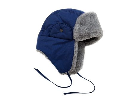 Cold winter season clothing - woven fur hat or cap photo