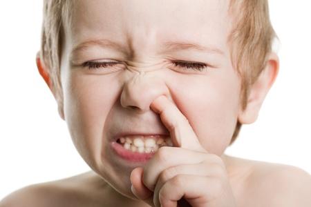 nose picking: Picking nose fun looking eye cute human child face