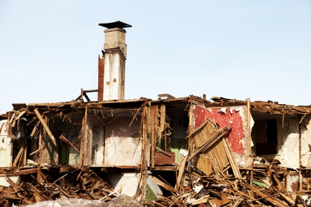 Hurricane earthquake disaster damage ruined house Stock Photo - 9276851