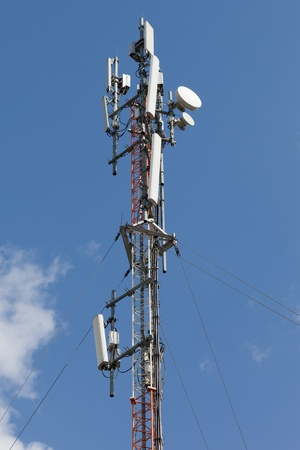 Mobile phone communication repeater antenna tower photo