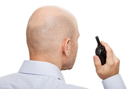 bodyguard: Guardia de seguridad mano radio walkie-talkie de cb Foto de archivo