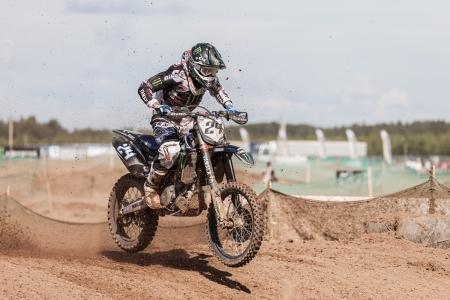 SEMIGORJE, RUSSIA - JULY 22: Grand Prix of Russia of FIM Motocross World Championship MX1 and MX2 Series on July 22, 2012 in Semigorje, Russia