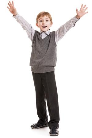 nackter junge: Kleine Gesten Kind Junge Glück fun lächelnd