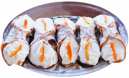 sicilian: sicilian cannolo pastry