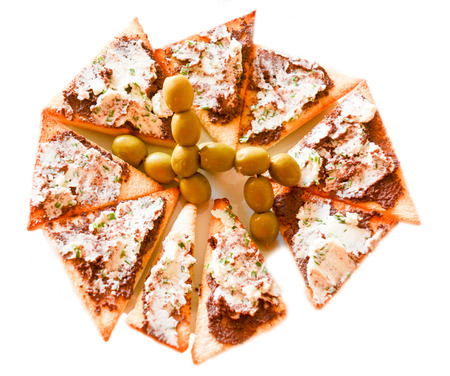 italian cusine: finger food cheese olive and other