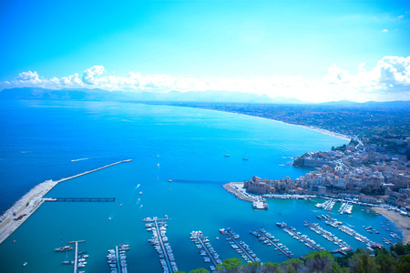 especially: view of gulf of castellammare del golfo in Sicily
