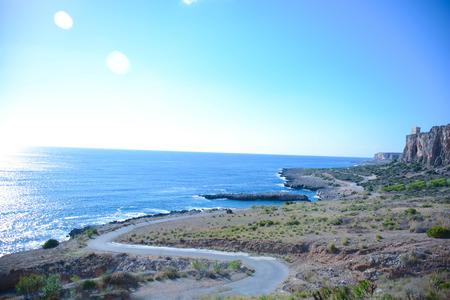 capo: san vito lo capo cliffs sicily particular view