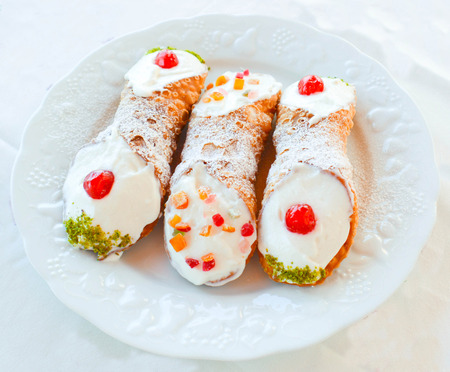 ancient tradition: Homemade cannoli as ancient tradition just done