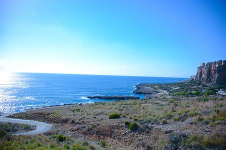 beauties: san vito lo capo cliffs sicily particular view