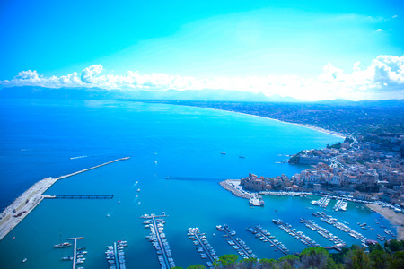 beauties: view of gulf of castellammare del golfo in Sicily