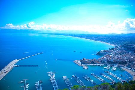castellammare del golfo: view of gulf of castellammare del golfo in Sicily