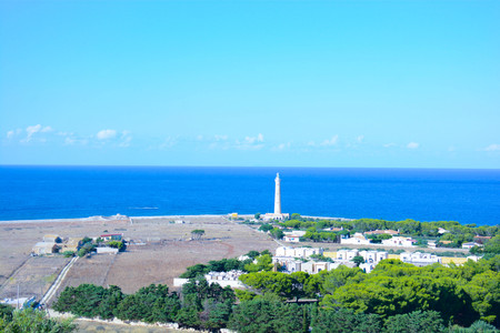 castellammare del golfo: lighthouse at San Vito Lo Capo Sicily Italy Stock Photo