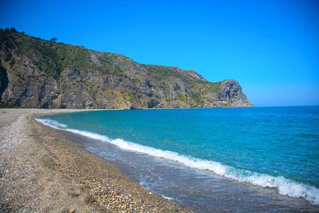 rare view of tindari beach in sicily