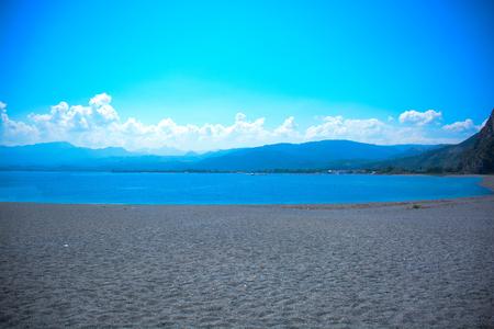 a rare: rare view of tindari beach in sicily