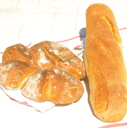 especially: sicilian bread just coocked with wood oven