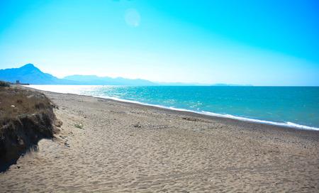 beauties: view of gulf of cefalu seaside in Sicily