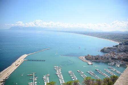 beauties: rare view of gulf of castelammare in sicily Stock Photo